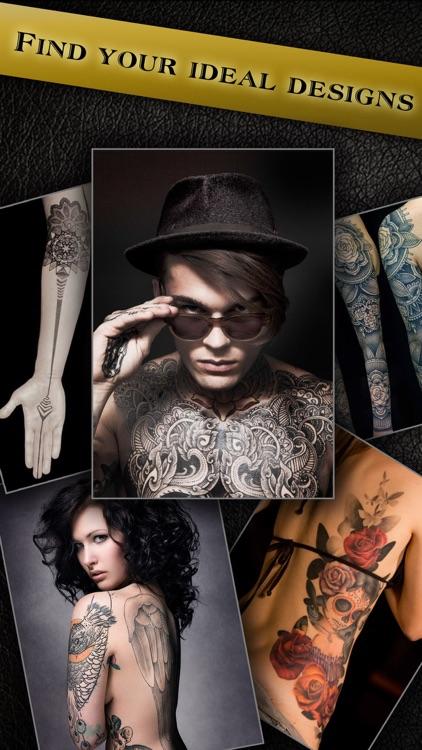 Virtual Tattoo Maker FREE - Photo Designer to add artist tattoos & fonts on yr body