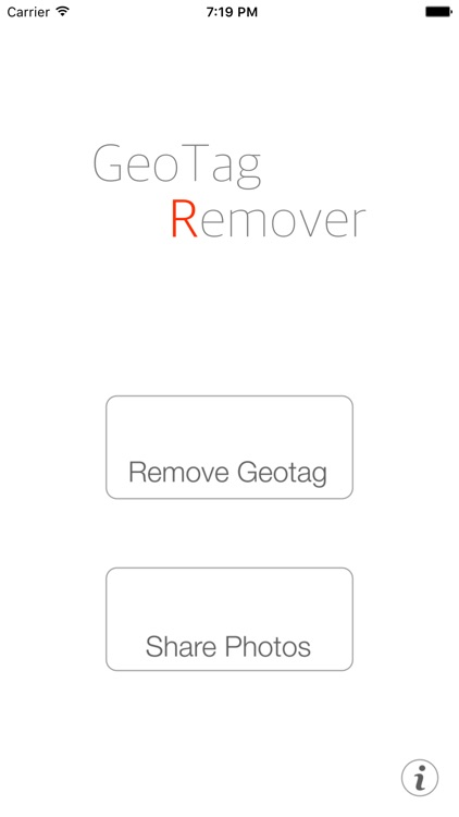 GTRemover At once to remove the location information
