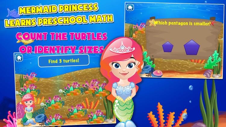 Mermaid Princess Preschool Adventure: Basic Addition, Subtraction, Missing Number and More Math Adventures screenshot-4
