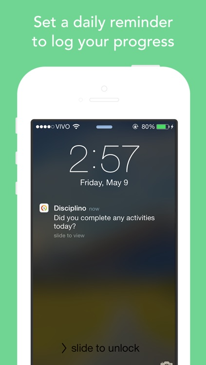 Disciplino — goal tracker with stats and reminders screenshot-4