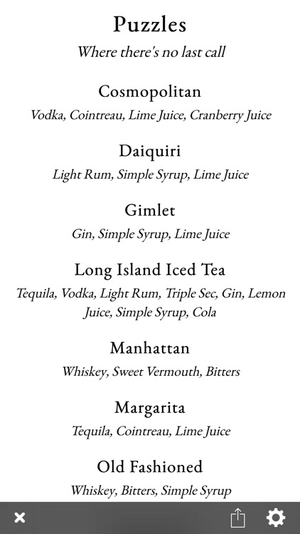 Pour: Cocktail Recipes for Home Bartenders