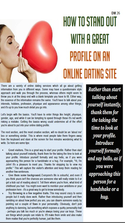 introduce yourself dating profile Exactly what to say in a first message there's more to it than you think ok, here's the experiment we analyzed over 500,000 first contacts on our dating site, okcupidour program looked at keywords and phrases, how they affected reply rates, and what trends were statistically significant.