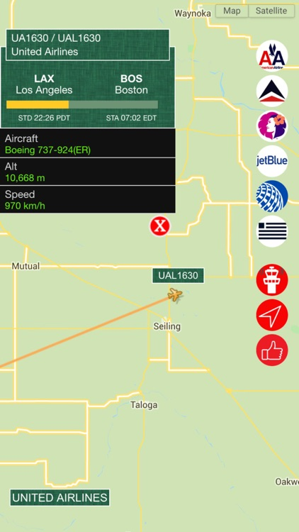 Air USA Pro - Live Flight Tracking & Status for United, American, Alaska, Delta, Hawaiian, Jetblue , US Airlines screenshot-3