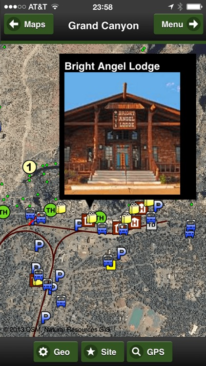 Grand Canyon OFFLINE Road and Trail Map