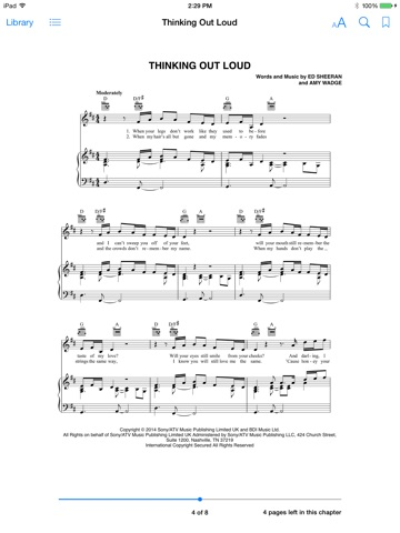 Thinking Out Loud Sheet Music by Ed Sheeran on Apple Books