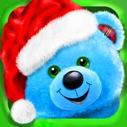 Build A Teddy Bear - A Bear's Hug In A Christmas Gift Card - Educational Care Kids Game