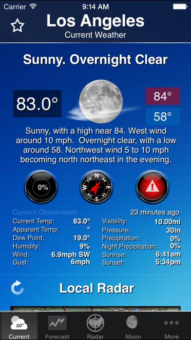 NOAA Weather and Radar Screenshot