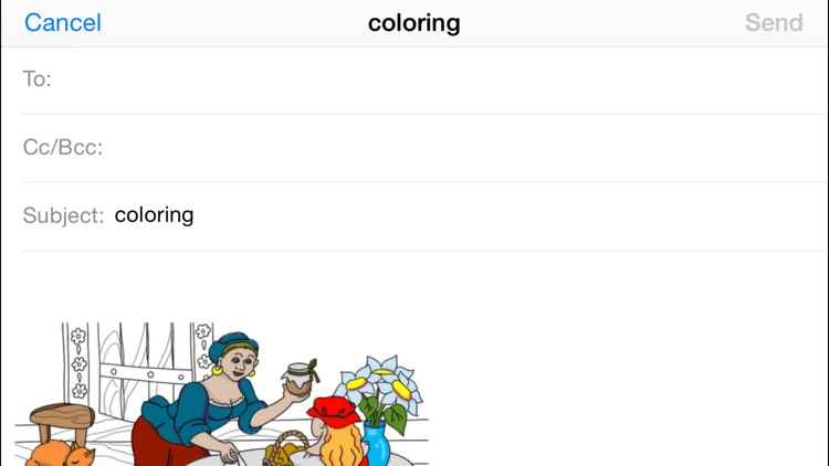 Little Red Riding Hood. Coloring book for children screenshot-3