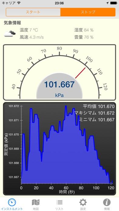 Barometer Pro - 気圧計 screenshot1