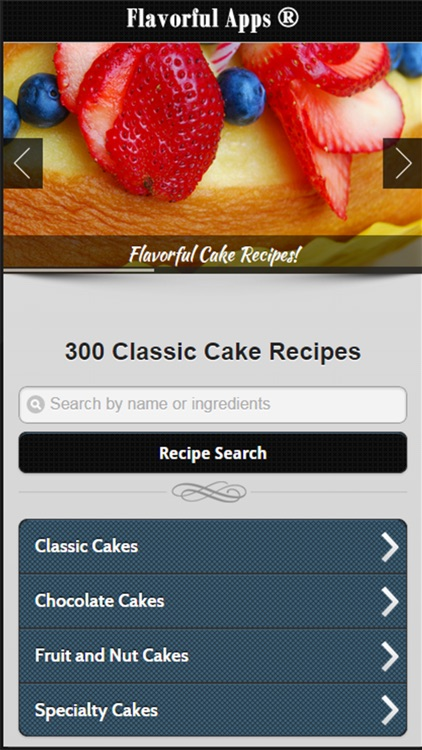 Cake Recipes from Flavorful Apps®