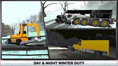 Nieve simulador de conductor de camión 3D - Conducir el gran grúa y aclarar el hielo de la carretera congeladaCaptura de pantalla de2