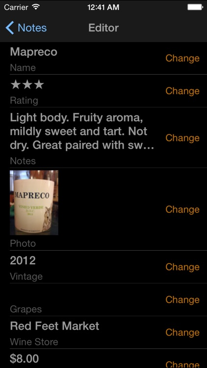 Fotovino - a wine diary, your wine tasting journal in pictures.