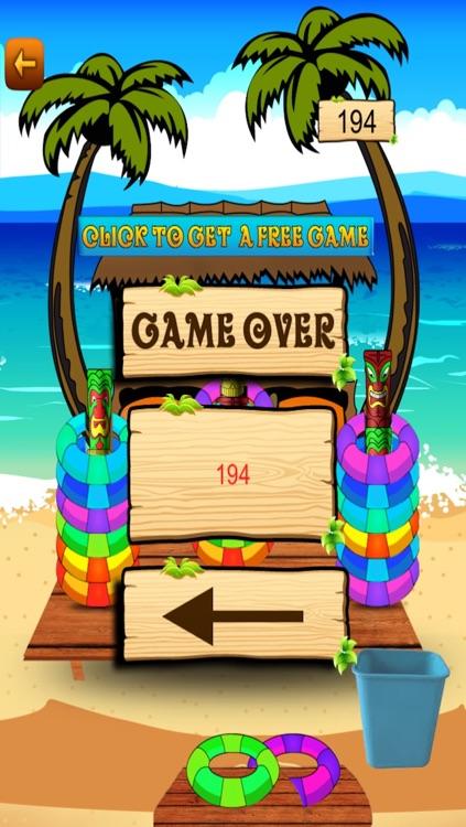 Hawaiian Vacation Beach Ring Toss Game