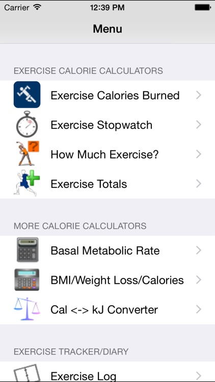 Calorie Calculator Plus - Calculate BMR, BMI and Calories Burned With Exercise screenshot-3