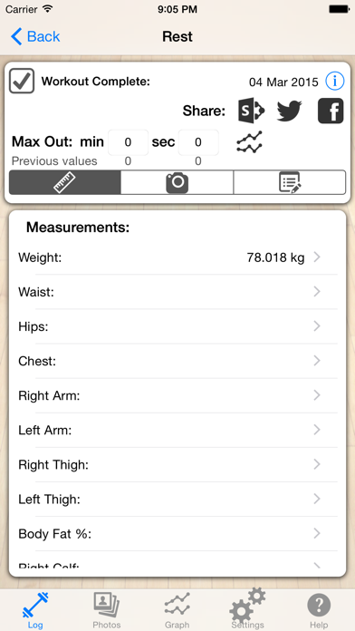 Log for Insane 30 Min Workoutのおすすめ画像1