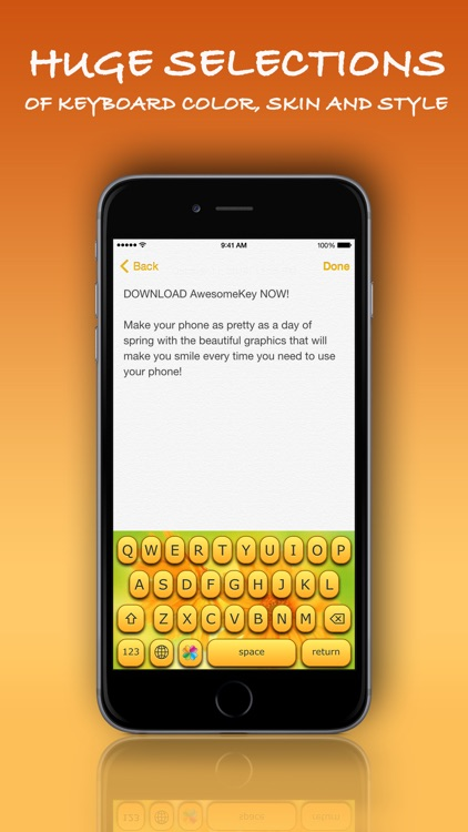 AwesomeKey ™ color theme keyboard for iOS 8 screenshot-4