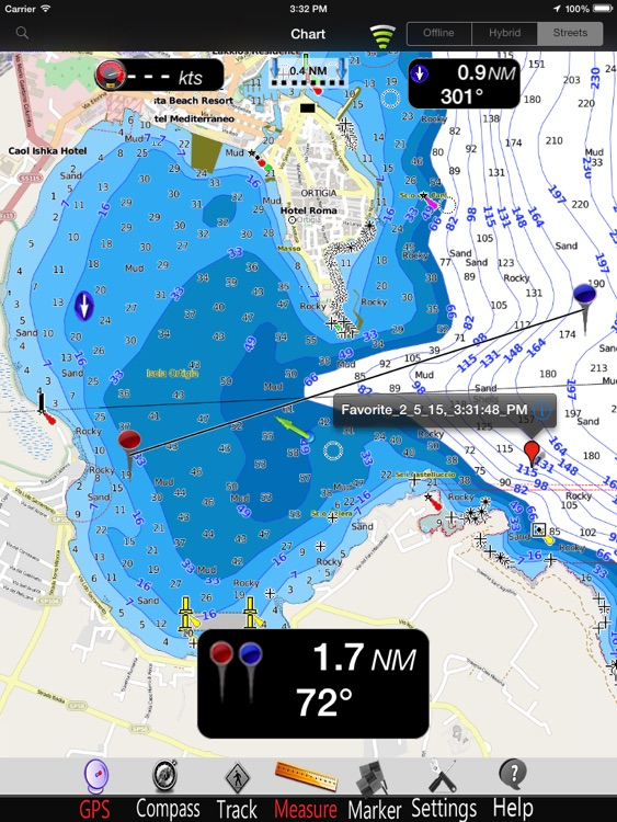 Sicily Is. Nautical Charts Pro