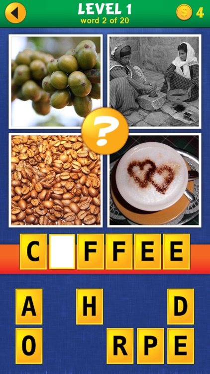 4 Pics Mystery: Guess 1 word from 4 pics