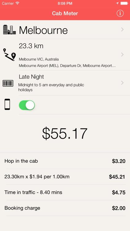 Cab Meter Australia - Taxi fare