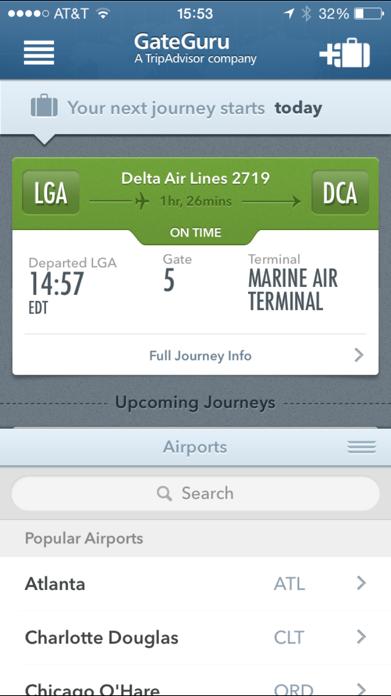GateGuru, Airport Info & Flight Status Screenshot