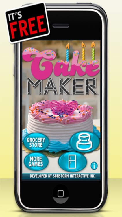 Cake Maker Game - Make, Bake, Decorate & Eat Party Cake Food with Frosting and Candy Free Games