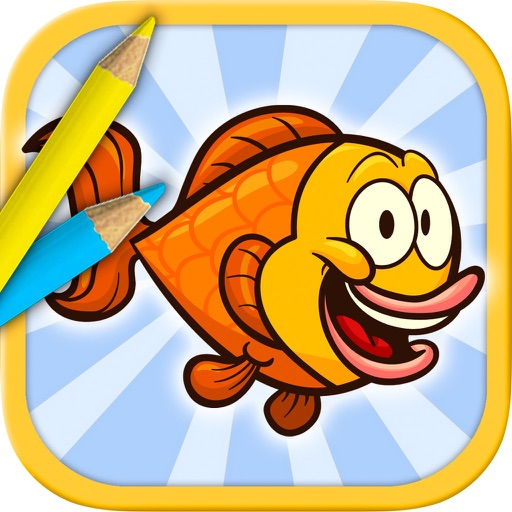Sea Animals Coloring Book - color and paint fish
