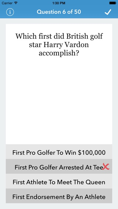 Golf Trivia For The Factual Intellectual review screenshots