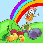 Vegetables And Fruit Coloring Suitable For Toddler icon