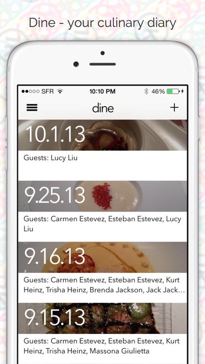 Dine - your culinary diary