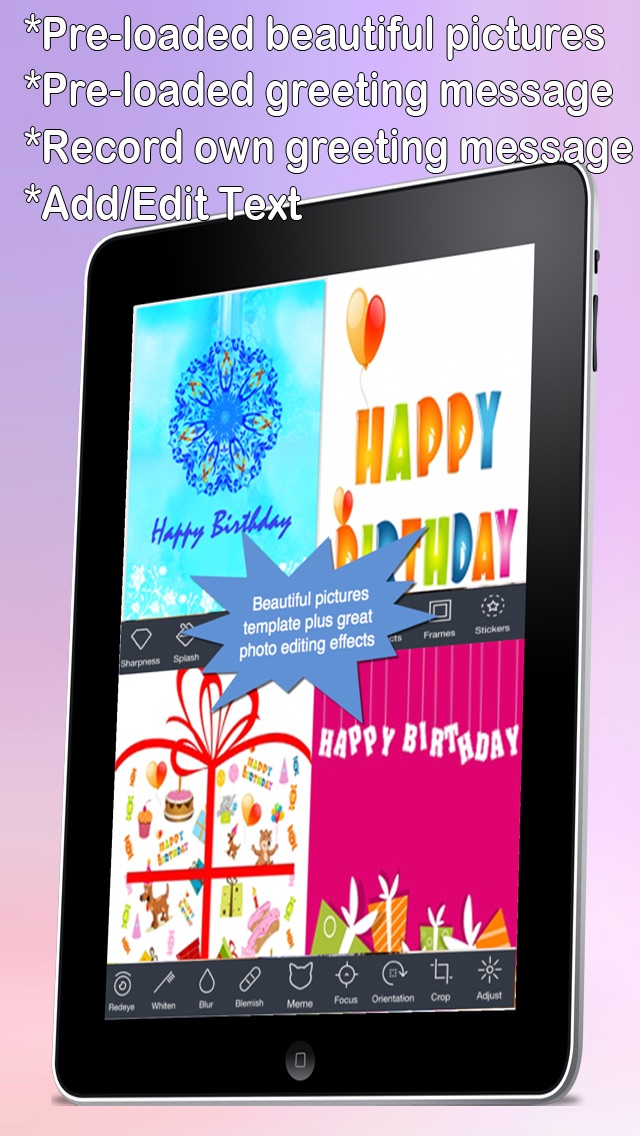 Custom And Screenshot 7 For The Ultimate Happy Birthday Cards Pro Version