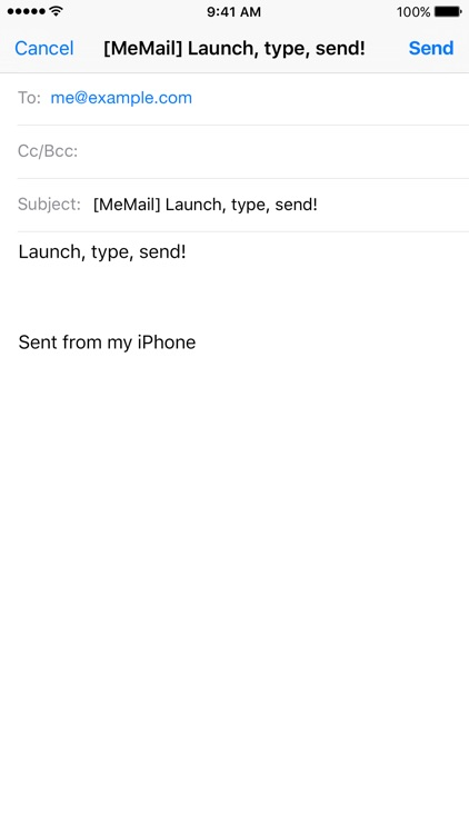 MeMail - email yourself fast! screenshot-3