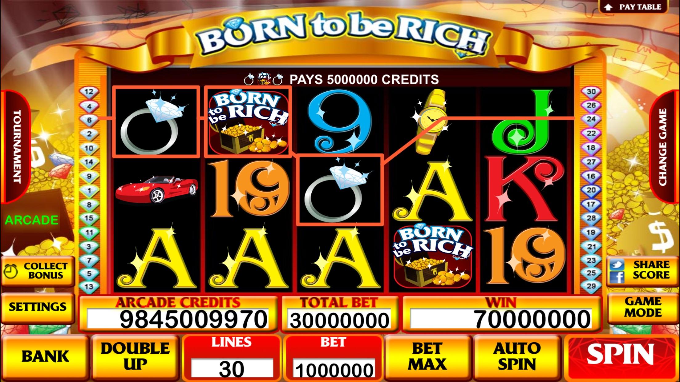 Born to be Rich Slot Machine Screenshot