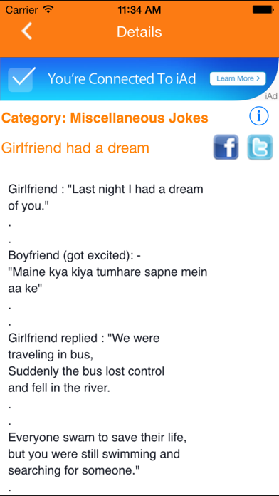 IndianJokes screenshot two