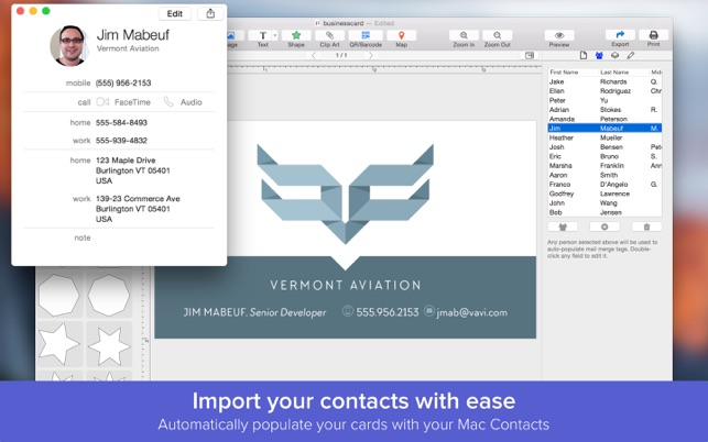 Business card designer create business cards on the mac app store business card designer create business cards on the mac app store reheart