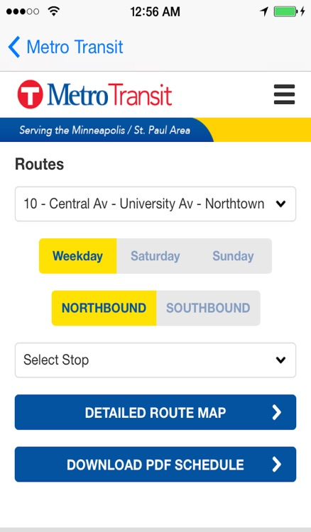 Minneapolis / Saint Paul Metro Transit Instant Route/Stops Finder and Bus Tracker + Street View + Nearest Coffee Shop Pro screenshot-3