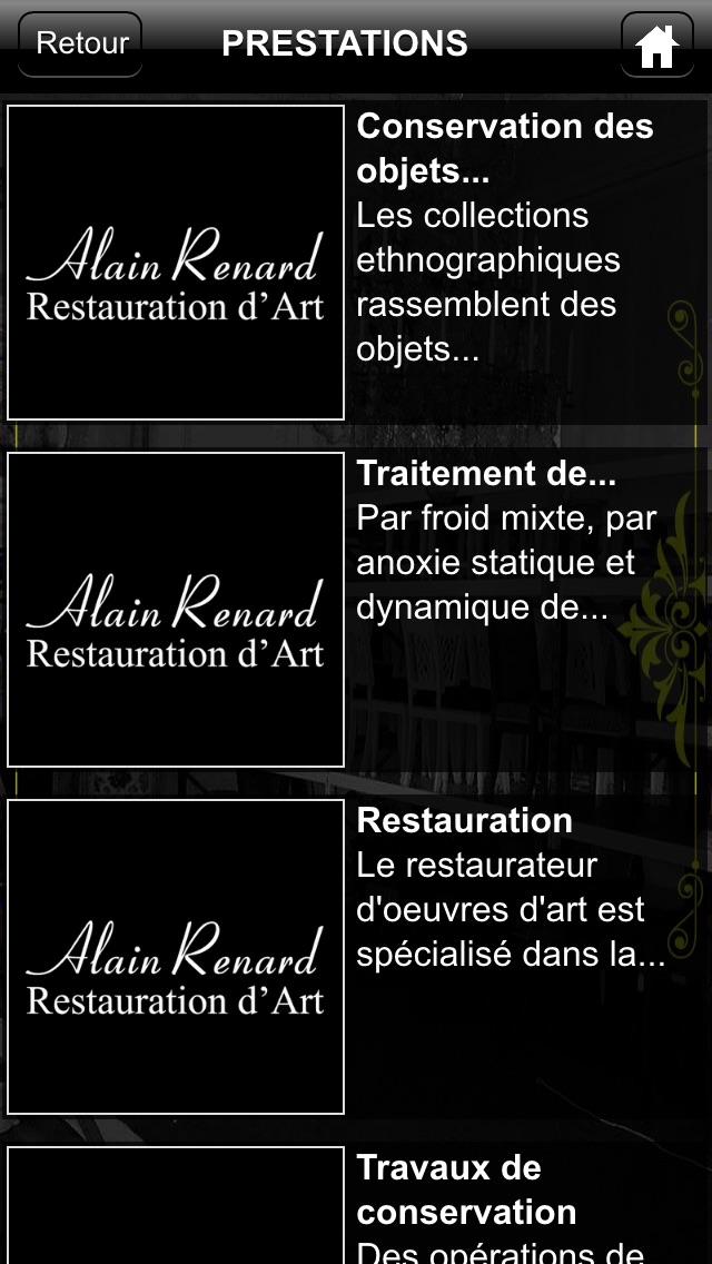 Alain Renard Restauration d'art screenshot two