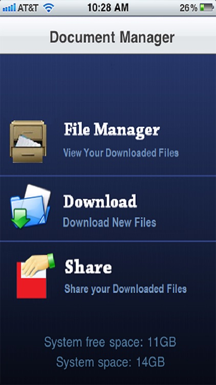 Files and Folders ( Download, Store, View and Share Files and Documents )