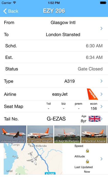 Glasgow Airport - iPlane Flight Information