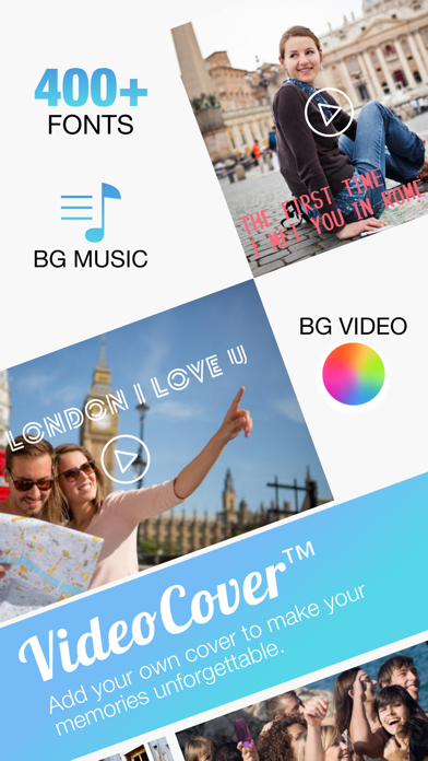 Video Cover FREE - Add Title Watermark and Background Musics to Video for Instagram screenshot one