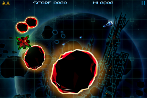 Retro Dust - Classic Arcade Asteroids Vs Invaders screenshot 4