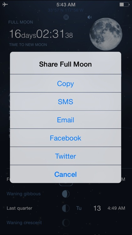 Moon Phases Deluxe - Full and New Moon Calendar screenshot-3