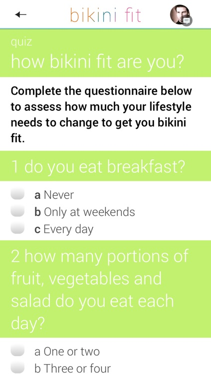 Bikini Fit: a 4 week plan for beach body fitness screenshot-4