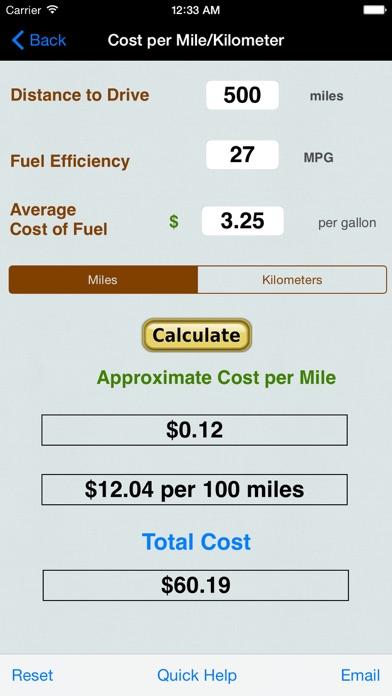 gas mileage calculator road trip
