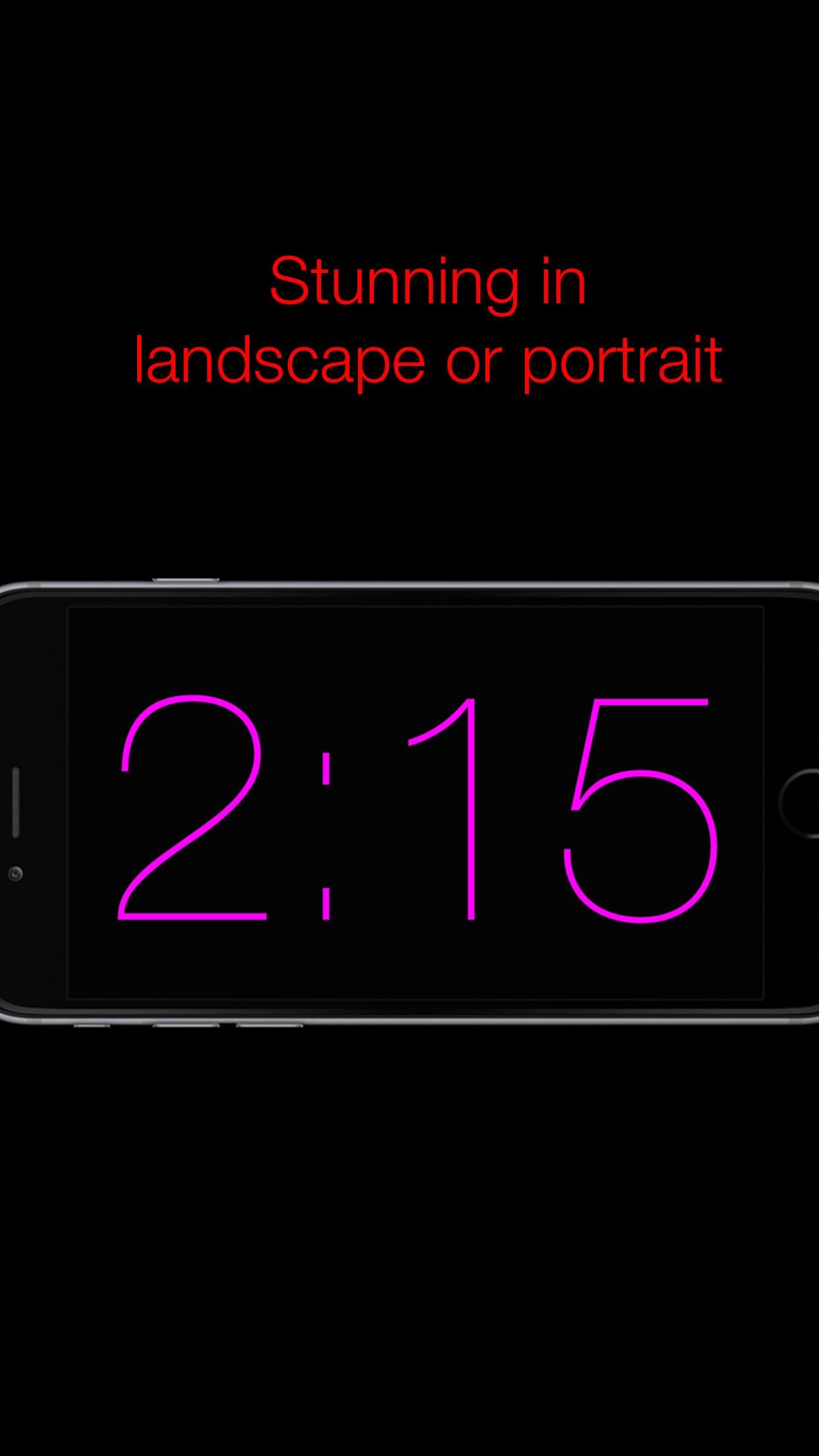 Nacht Klok - Nite Time - een eenvoudige avond klok vuoor w nachtkastje - night clock flashlight Screenshot