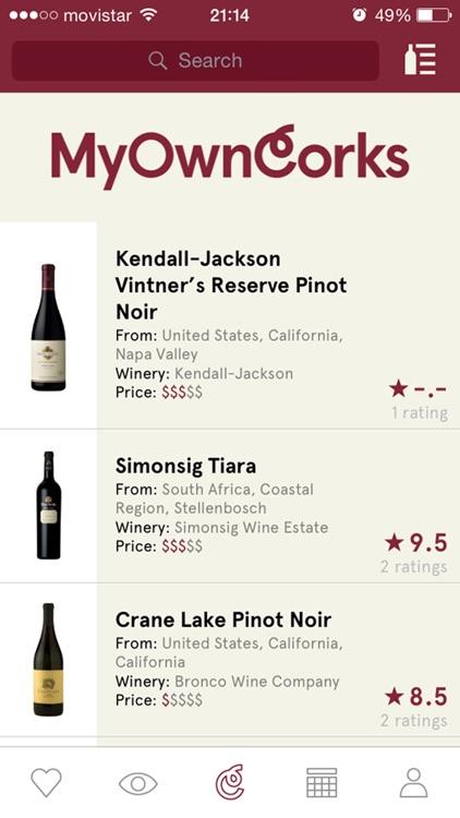 MyOwnCorks - For wine lovers screenshot-0