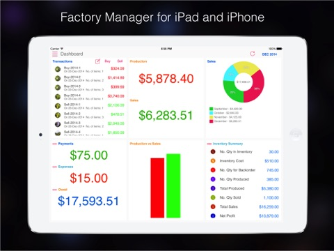 Factory Manager Pro : for Manufacturer with multi location inventory-ipad-0