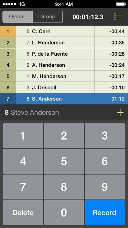 RaceSplitter — Race & split timer for event organizers and coaches screenshot-3