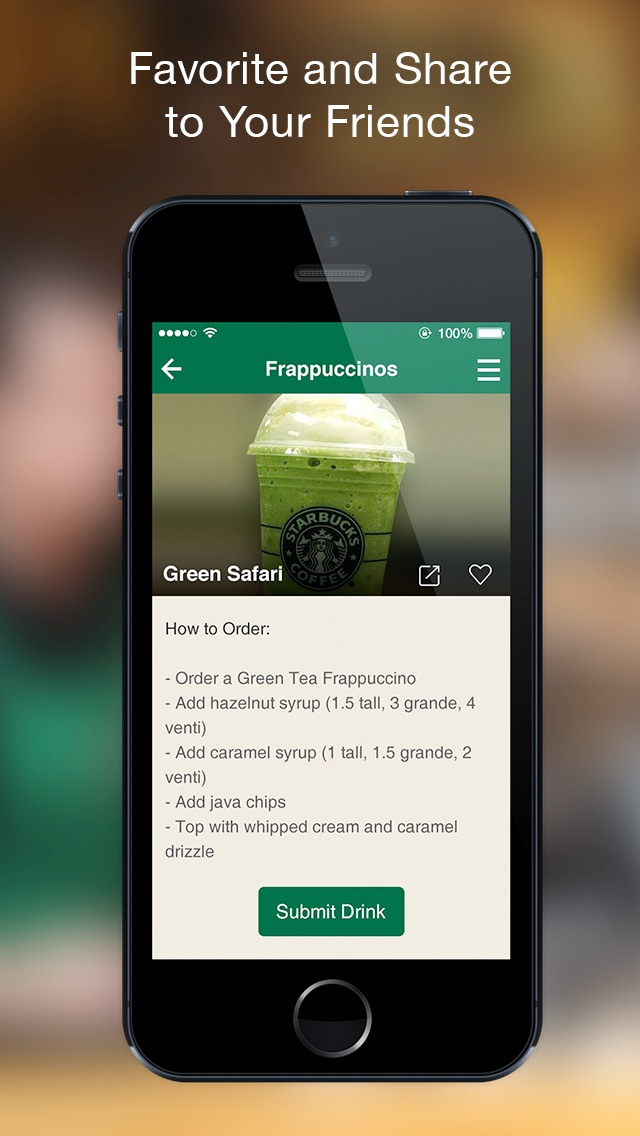Secret Menu - for Starbucks Coffee Screenshot