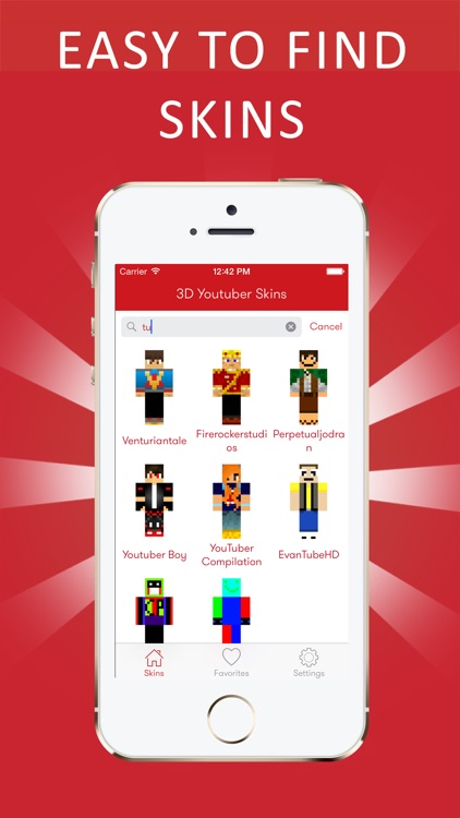 Best 3D Youtuber Skins for Minecraft PE screenshot-3