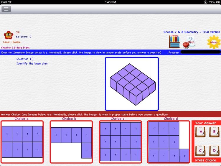 EZ Math for Middle School (Grades 5 to 8) Part 1 - Geometry & Trigonometry screenshot-4